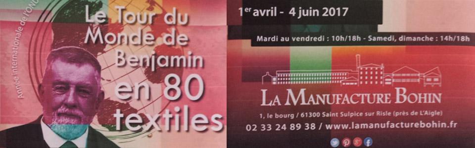Le tour du Monde en 80 textiles - expo