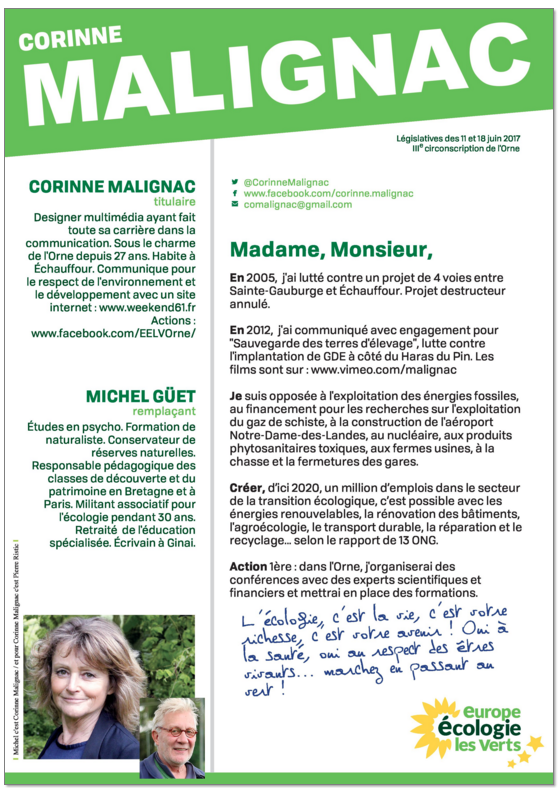 Corinne Malignac législatives 2017