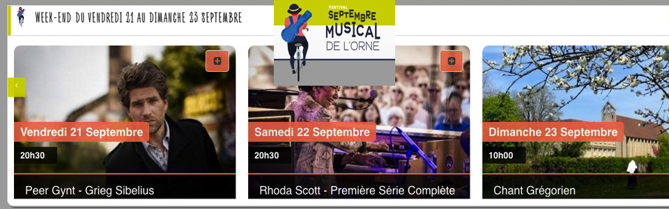 Septembre musical Orne 21 au 23 sept