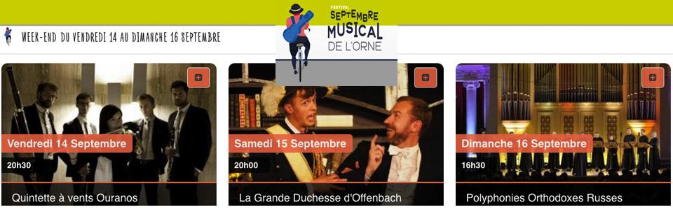 Festival septembre musical de l'Orne